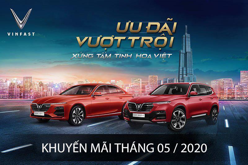 Vinfast khuyến mãi tháng 05 – 2020